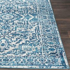 Abbas Sky Blue Vintage Traditional Area Rug - x Area Rugs For Sale, Rug Sale, Floral Area Rugs, Blue Area Rugs, Polypropylene Rugs, Traditional Area Rugs, Blue Tones, White Area Rug, Rugs Online