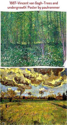 1887-Vincent van Gogh-Trees and undergrowth Poster Beginner Yoga, Yoga For Beginners, Vinyasa Flow Sequence, Vincent Van Gogh, Trees, Poster, Outdoor, Painting, Art