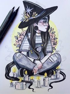 Hipster witch