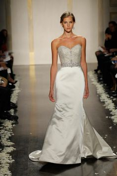 Lazaro Bridal style 3214 skirt to plain but love the top and mermaid style
