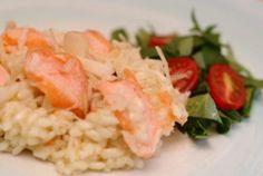 Risoto de salmão e rúcula  Gastronomia e Receitas - Yahoo Mulher