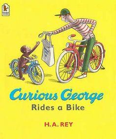 Curious George Rides a Bike T-Shirt Banana Yellow Mens