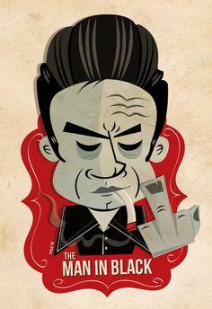 Rock ´n Roll icons by Poleta Art, via Behance