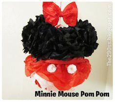 DIY: Minnie Mouse Pom Pom (Party Decorations)
