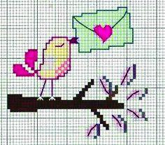 lettera d'amore - punto croce - cross Stitch - Kreuzstich - Punto de Cruz