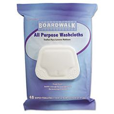 Boardwalk Premoistened Personal Washcloths, 12.5 x 7.9, Fresh Scent, 48/Pack