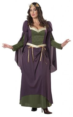 Ladies medieval fancy dress plus size