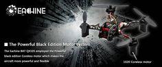 Eachine BAT QX105 w/ AIOF3_BRUSHED OSD 600TVL CAM 1020 Motor Buzzer Micro FPV Racing Quadcopter BNF