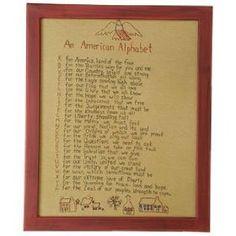 American Alphabet Country Rustic Primitive Sampler $69.99