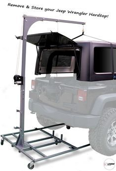 Buy a new Lange Originals Simple Crank Hoist-A-Top for your Jeep TJ Wrangler or Jeep JK Wrangler from CJ Pony Parts. This Hoist-A-Top is a simple design that lifts your Hard Top off your TJ/JK with ease. Jeep Wrangler Hard Top, Jeep Hard Top, Jeep Wrangler Unlimited, Jeep Wrangler Accessories, Jeep Accessories, Offroad Accessories, Jeep Tops, Jeep Jku, Jeep Rubicon