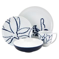 Artist Blue Place Setting 4Pc