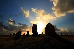 Alignements de menhirs sur la Presqu'ile de Crozon. Brittany
