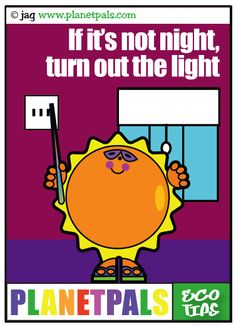 Learn about #energy #conservation with SunnyRay @ planetpals.com