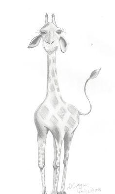 Giraffe Art Print by Pirate | Society6