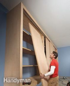 It's just a box with closet doors. Garage storage and organization. Great way to use up my sliding doors from closet remodels.