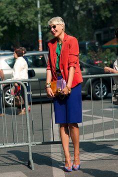 Colorblocking brights. MFW S/S12 Elisa Nalin #fashion