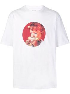 Palace munchy print T-shirt - White Palace London, London Outfit, Size Clothing, Street Wear, Women Wear, Short Sleeves, Mens Tops, T Shirt, How To Wear