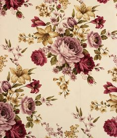 19 Trendy Ideas For Vintage Pattern Flower Backgrounds Vintage Flower Backgrounds, Vintage Flowers Wallpaper, Flower Background Wallpaper, Victorian Wallpaper, Decoupage Vintage, Vintage Diy, Vintage Paper, Vintage Floral, Impression Textile
