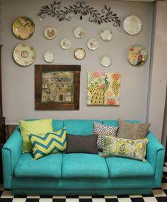 I Spray Painted a Sofa!