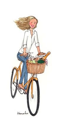 A bicyclette!