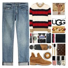 """The New Classics With UGG: Contest Entry"" by barbarela11 on Polyvore featuring Gucci, Helmut Lang, UGG, Polaroid and Tomasini"