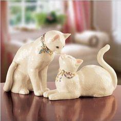 LENOX CHARISMATIC CATS CAT ANIMALS AWAKE TO A KISS