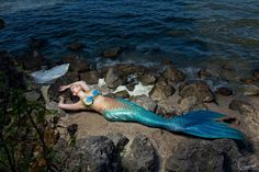 Mermaid with a blue tail