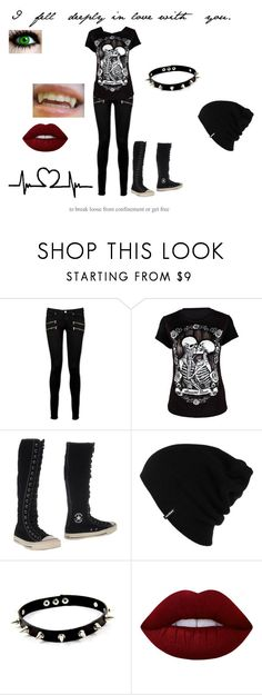 """Untitled #10"" by satanicemokitten on Polyvore featuring Paige Denim, Converse, Patagonia and Lime Crime"