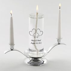 Eternity Unity Candle Set (Gold/Silver Stand)