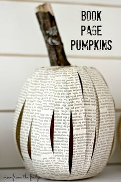 Make these simple, rustic pumpkins for FREE with items around the house
