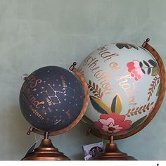 Painted globes