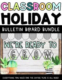 Easily decorate your classroom for the holidays with this HUGE bulletin board bundle! This bundle is filled with adorable and purposeful bulletin board decor for your classroom. Everything you need for the entire year is all here - 10 holidays included! Banners too! Bulletin board, classroom holiday decor, classroom bulletin board ideas, classroom decor. 4th Grade Classroom, Classroom Walls, Classroom Design, Classroom Themes, Holiday Bulletin Boards, Teacher Bulletin Boards, Bulletin Board Letters, Fall Classroom Decorations, Winter Decorations