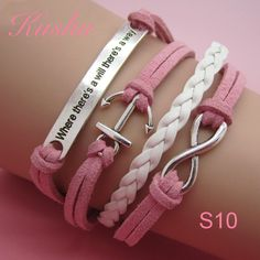 Shop Women's handmade Pink White size OS Bracelets at a discounted price at Poshmark. Description: The latest fad leather bracelets. Diy Bracelets Easy, Handmade Jewelry Bracelets, Bijoux Diy, Cute Jewelry, Sterling Silver Bracelets, Jewelry Crafts, Beaded Jewelry, Beaded Bracelets, Infinity Bracelets