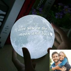 Personalized Photo Moon Lamp Most special gift ever❤Love is a lot easier to profess when you have got a moon lamp as your wingman. With customized mo. Customized Gifts For Boyfriend, Cute Gifts For Girlfriend, Creative Gifts For Boyfriend, Valentine Gift For Wife, Valentines Gifts For Boyfriend, Gifts For Your Boyfriend, Boyfriend Birthday, Gifts For Husband, Boyfriend Girlfriend