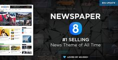 Free Download Newspaper WordPress Theme 8.1 Nulled latest – Themeforest| Newspaper v8.1 – Responsive WordPress News/Magazine Theme (Updated on 3rd August 2017) that is also known as best Premium Magazine Theme is perfect for news, magazine, publishing or reviewing any site topics.   #ThemeForest