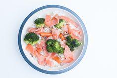 15 perc – Füstölt lazac zöldséges rizzsel