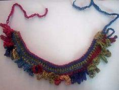 Loop Fringe Crochet Choker