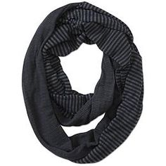 Stripe Infinity Scarf - The reversible, double-layer striped scarf that loops up to three times around your neck for infinite warmth.