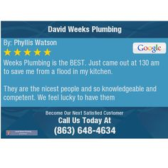 Weeks Plumbing is the BEST. Just came out at 130 am to save me from a flood in my. Pipe Repair, Clear Communication, I Really Appreciate, Family Dentistry, Low Key, Good Advice, Pediatrics, 6 Years, Dental