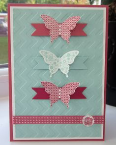 Stampin' Up UK Demonstrator Sarah-Jane Rae Cards and a Cuppa blog: 2 Papillon Potpourri cards