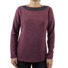 Camiseta mujer manga larga angora escote transparente