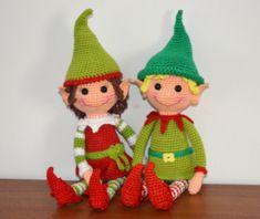 Christmas Elves - AmigurmiBB http://amigurumibb.com/2014/11/30/christmas-elves-pattern/