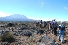 Day 3, Lemosho Route, aiming for Kibo while traversing the Shira Plateau.