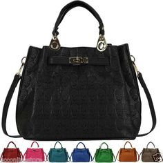Womens Ladies Designer Celebrity Handbag Faux Leather Skull Satchel Tote Bag