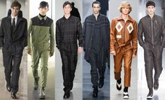 However, rather than the army-issue iterations Churchill would have been used to, the item has had a high-end remix. Crucially, they were shown not just causally this season, but also with smart shoes and even shirts and ties or tailored jackets at Hermes. A onesie you can wear to the office? We're in. From left to right: Hermes,Kenzo,Lou Dalton, 3.1 Phillip Lim, Xander ZhouandLouis Vuitton.