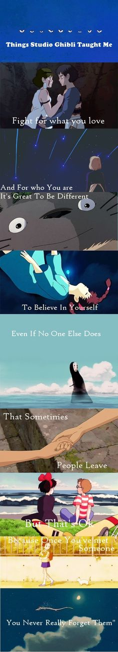 things studio ghibli taught me