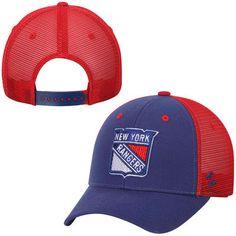 e4fd039e7 Men s New York Rangers Zephyr Navy Blue Basic Trucker Snapback Adjustable  Hat
