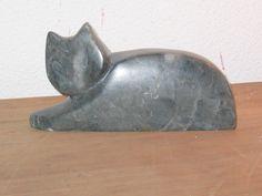 cat black chinese soapstone