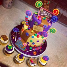 This scrumpdiddylumptious Charlie and the Chocolate Factory cake