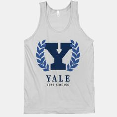 Yale (Just Kidding) | HUMAN | Size: XS, Color: Silver, Style: Cotton Tank
